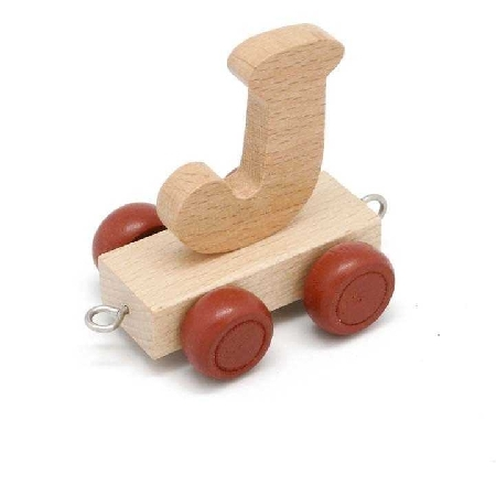 Wooden Name Train Letter J