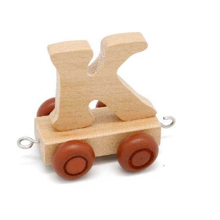 Wooden Name Train Letter K