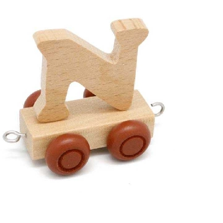 Wooden Name Train Letter N