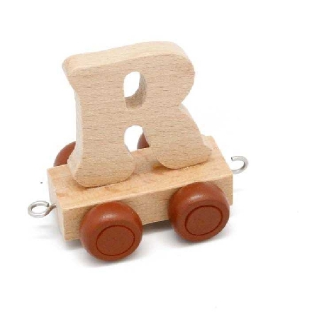 Wooden Name Train Letter R