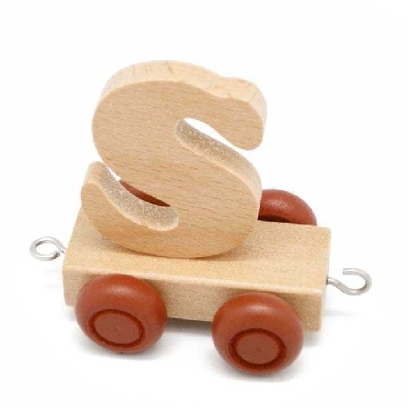 Wooden Name Train Letter S