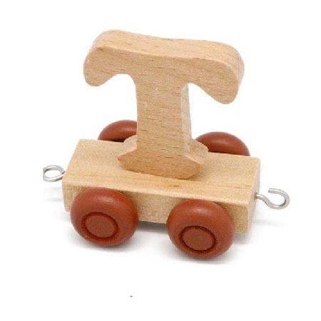 Wooden Name Train Letter T