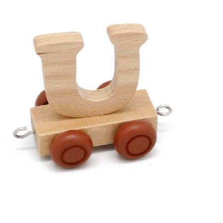 Wooden Name Train Letter U