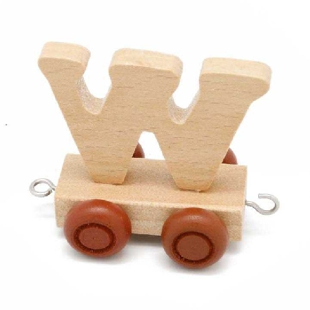 Wooden Name Train Letter W