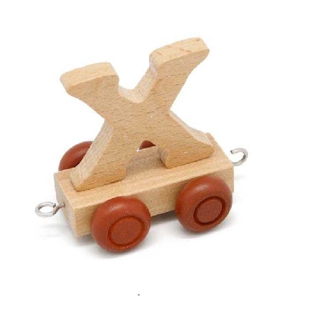 Wooden Name Train Letter X