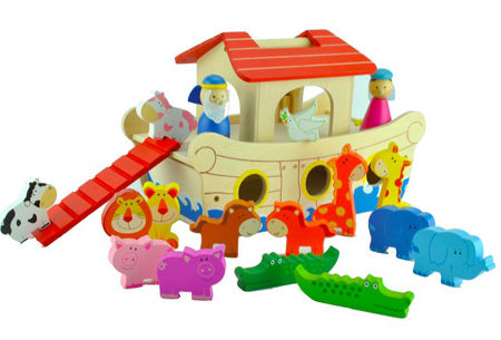 Noah\'s Ark Wooden Play Set