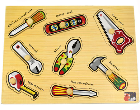 Wooden Tools Peg Puzzle