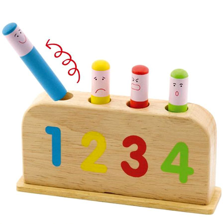 Springing Wooden Pop Up Toy