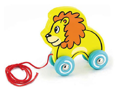 Pull Along Wooden Lion