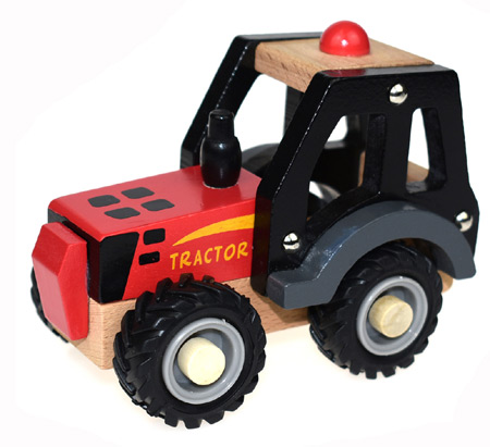 Wooden Toy Red Tractor
