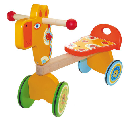 Wooden Toy Ride On Giraffe