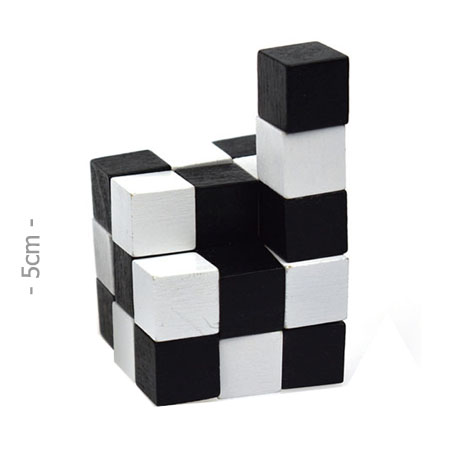 Mini Wooden Snake Cube Puzzle