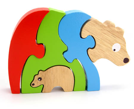 Wooden Stacking Puzzle Bears