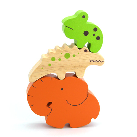 Wooden Stacking Puzzle Creatures