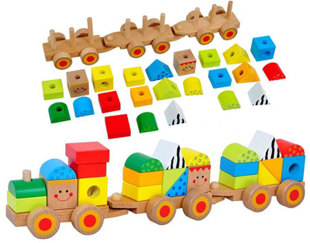 Stacking Block Push Along Train
