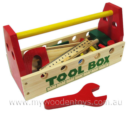 Toy Tool Box is a great colourful collection of chunky pretend tools ...
