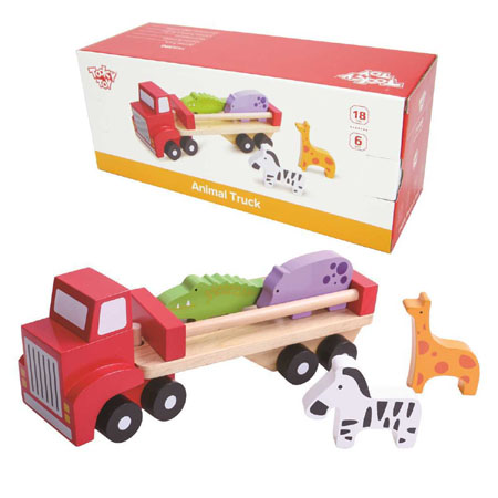 Wooden Toy Animal Transporter