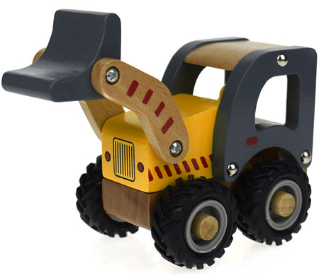 Wooden Toy Tractor Front End Loader
