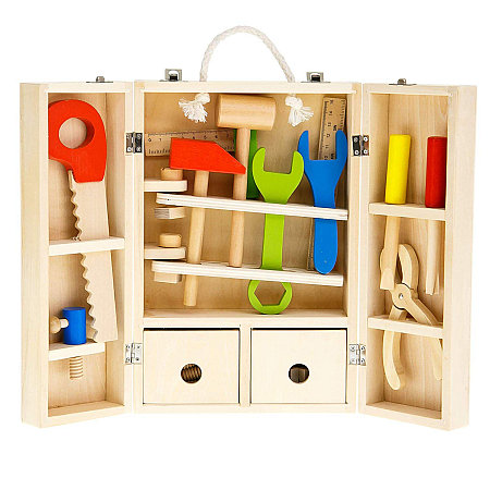 Toy Wooden Carpenters Set