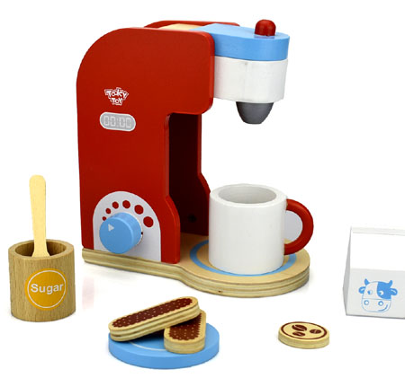 Wooden Toy Coffee Machine