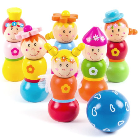 Wooden Toy Fairy Bowling Game
