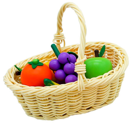 Wooden Toy Fruit Basket