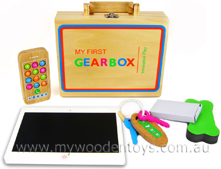 Wooden Toy Gadget & Gear Case