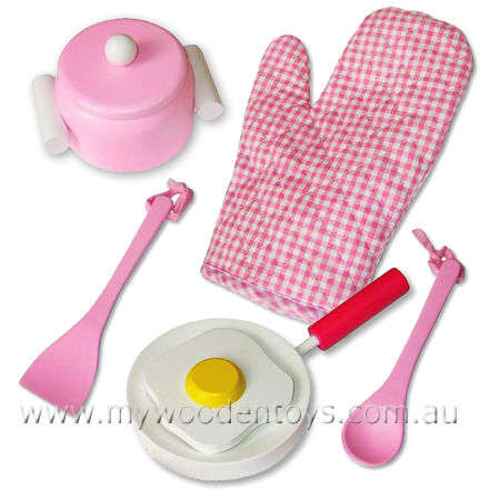 4ec8558f8f64 Wooden Toy Pink Cooking Set at My Wooden Toys