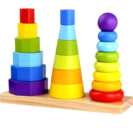 Wooden Toy Stacking Rings