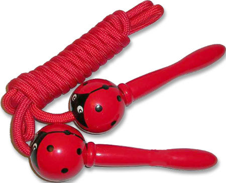 Wooden Skipping Rope Ladybird