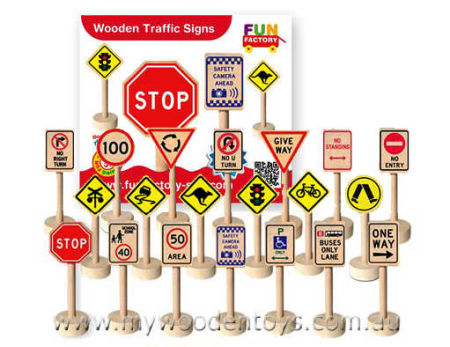 Wooden Toy Traffic Signs (Aussie)