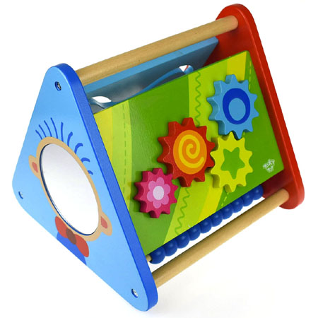 Wooden Toy Triangle Activity Centre