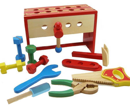Wooden Toy Tool Box Bench