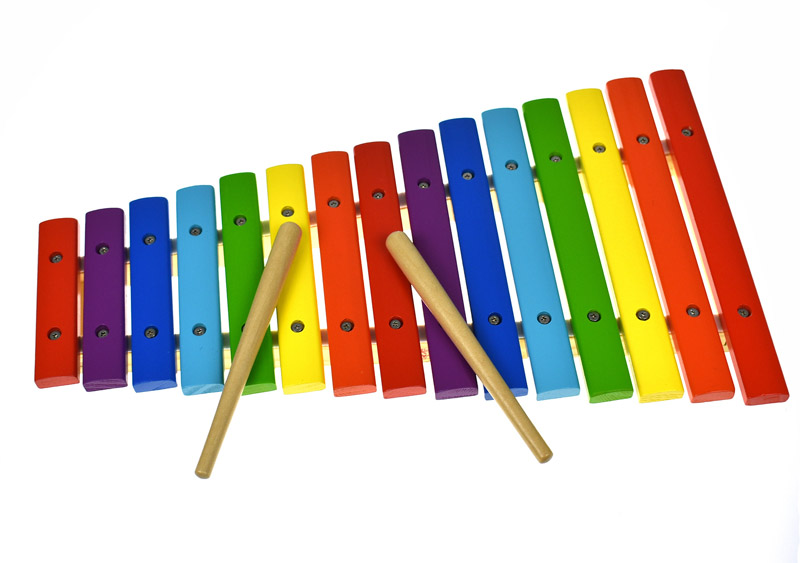 Wooden Xylophone Fifteen Tone Coloured