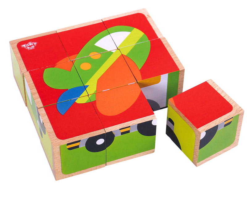 Wooden Transport Puzzle Blocks
