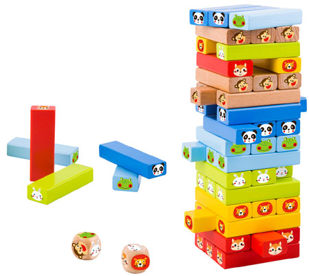 Wooden Tumble Tower Game