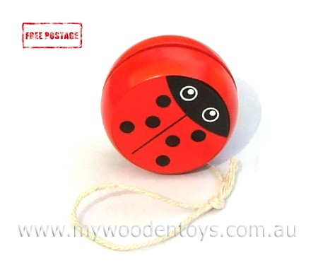 Animal Wooden Yo Yo Bug Duck and Frog
