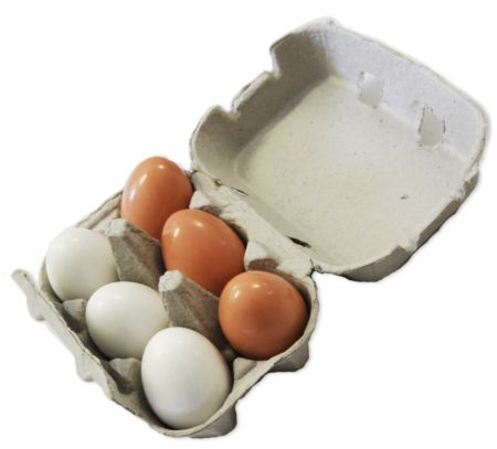 Eggs Wooden Half Dozen