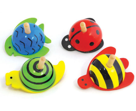 Wooden Toy Novelty Spinning Tops Animals
