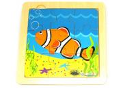 Simple Nine Piece Clown Fish Puzzle