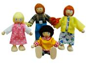 Wooden Toys Doll Family White
