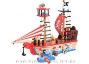 Pirate Ship Wooden Toy