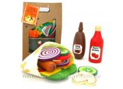 Play Food Felt & Wood Pocket Bread