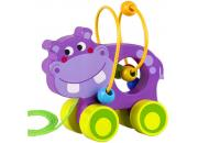 pull along purple hippo