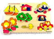 Wooden Toys Puzzle with Knobs