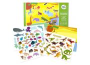 reusable sticker animals scenes