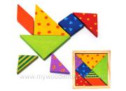 Mini Wooden Tangram Puzzle