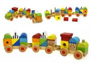 wooden block stacking train tooky