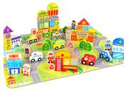 Wooden Blocks City 100 Pieces