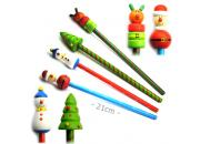 Wooden Christmas Pencil Set